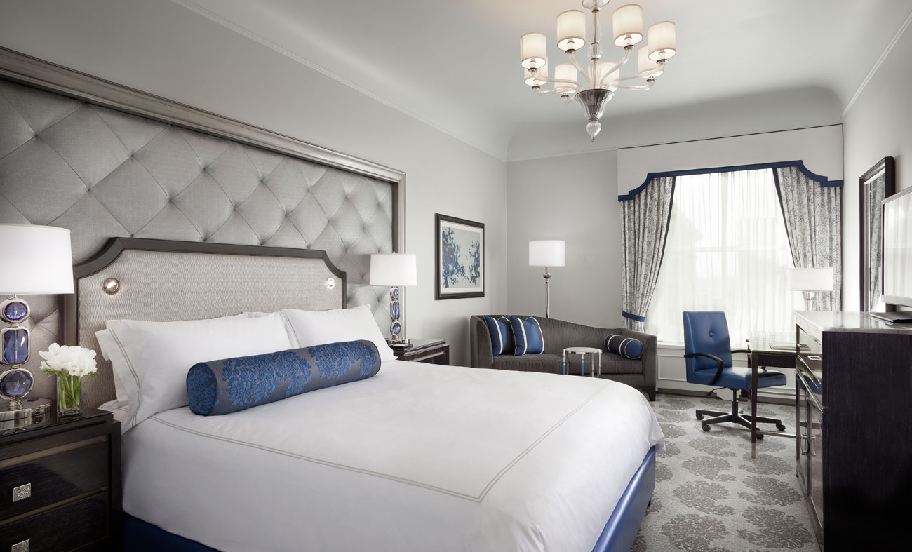 the Fairmont Hotel San Francisco guest bedroom king